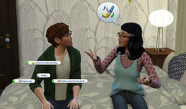 Emotional Socials by helaene from Mod The Sims