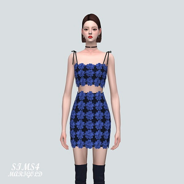 A 7 Flower Lace 2 Piece V2 from SIMS4 Marigold