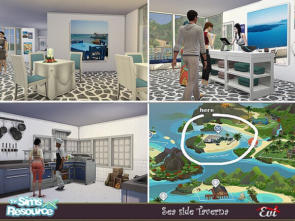 Sea side Taverna by evi from TSR