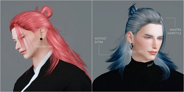Mantra Hair from Obsidian Sims