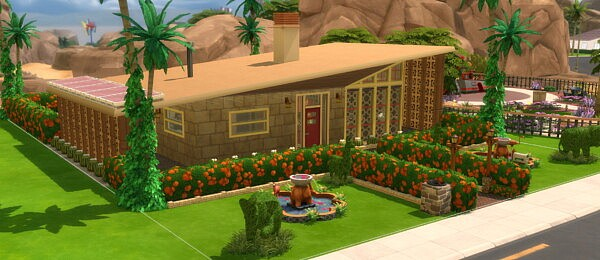 The El Dorado Mid Century Modern Home by DominoPunkyHeart from Mod The Sims