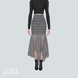 7 Lace Mermaid Skirt V2 sims 4 cc