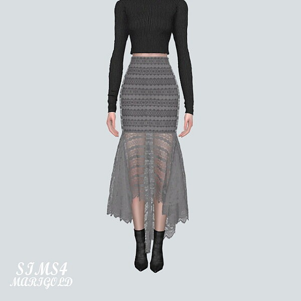 7 Lace Mermaid Skirt V2 sims 4 cc