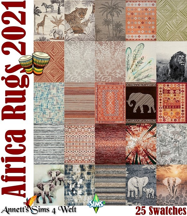 AFRICA Rugs 2021 sims 4 cc