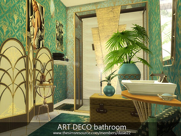 ART DECO bathroom sims 4 cc