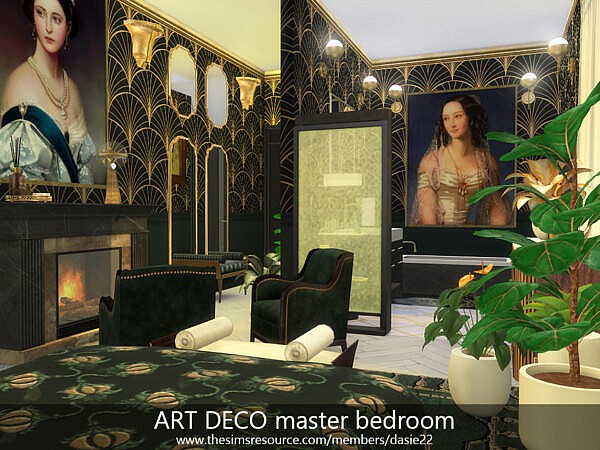 ART DECO master bedroom sims 4 cc