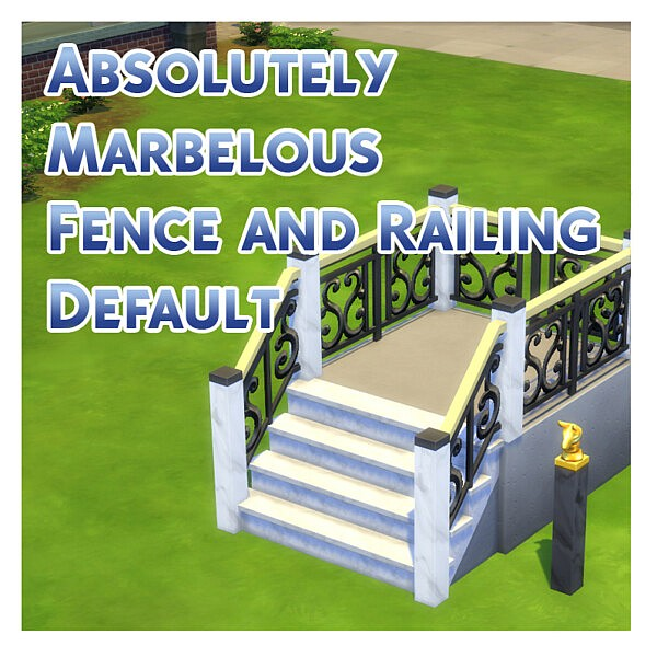 Absolutely Marbelous Fence and Railing Default by Menaceman44 from Mod The Sims
