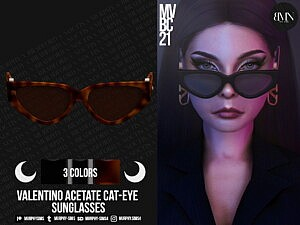 Acetate Cat Eye Sunglasses sims 4 cc