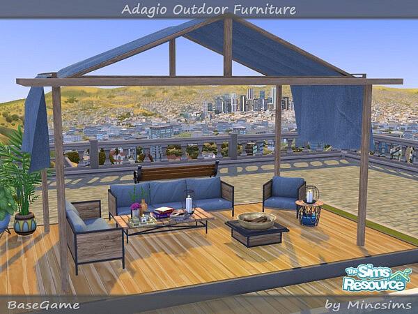 Adagio Outdoor Furniture Set sims 4 cc