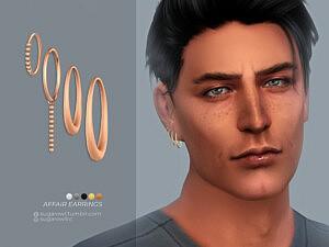 Affair earrings Right sims 4 cc