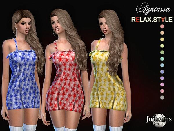 Agniassa dress sims 4 cc