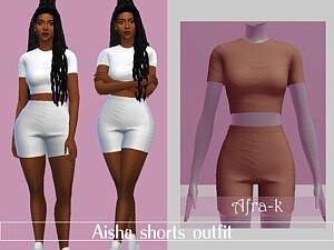 Aisha shorts outfit sims 4 cc