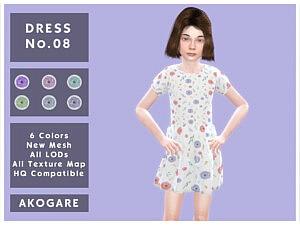 Akogare Dress No.08 sims 4 cc