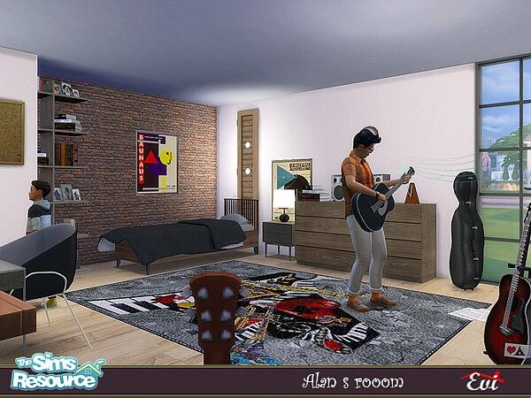 Alans Room sims 4 cc