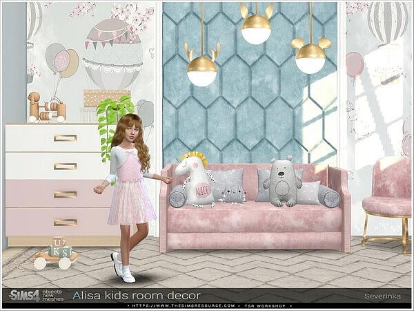 Alisa kidsroom decor sims 4 cc