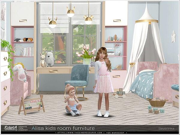 Alisa kidsroom furniture sims 4 cc