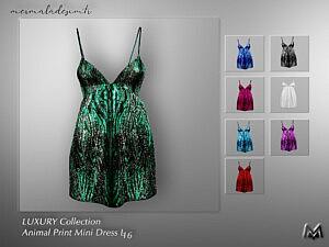 Animal Print Mini Dress sims 4 cc
