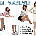 Ankle Strap Sandals sims 4 cc