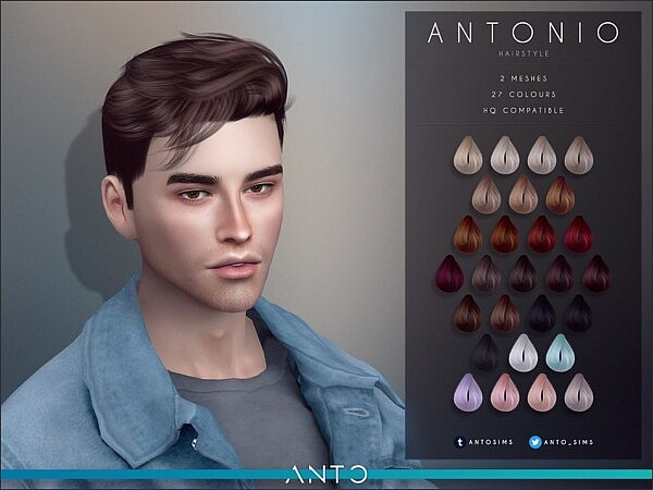Antonio hair by Anto from TSR