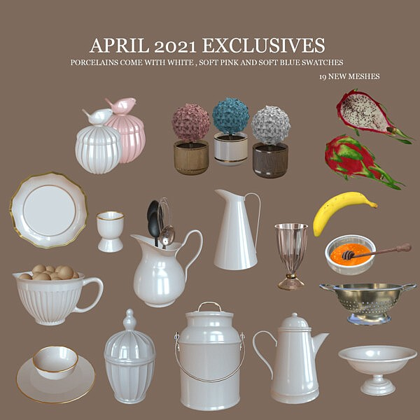 April Decor Collection from Leo 4 Sims