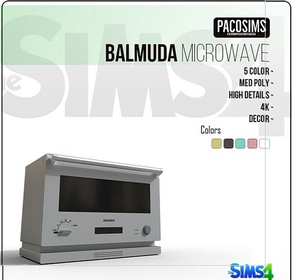 BALMUDA MICROWAVE sims 4 cc