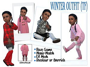 BG Winter Outfit for toddler girls sims 4 cc