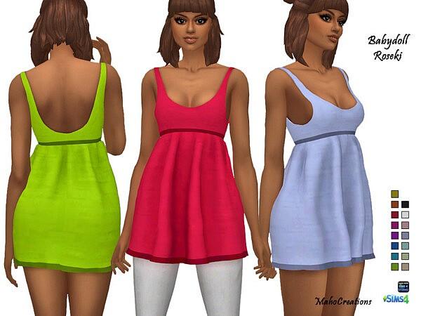 Babydoll Roseki Dress by MahoCreations from TSR