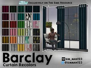 Barclay Curtain Recolors sims 4 cc