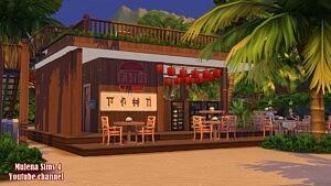 Beach Restaurant sims 4 cc