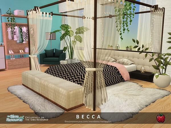 Becca bedroom 2 sims 4 cc