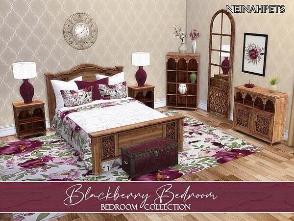Blackberry Bedroom sims 4 cc
