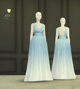 Bloom Gown II sims 4 cc