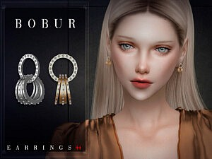 Bobur Earrings 44 sims 4 cc