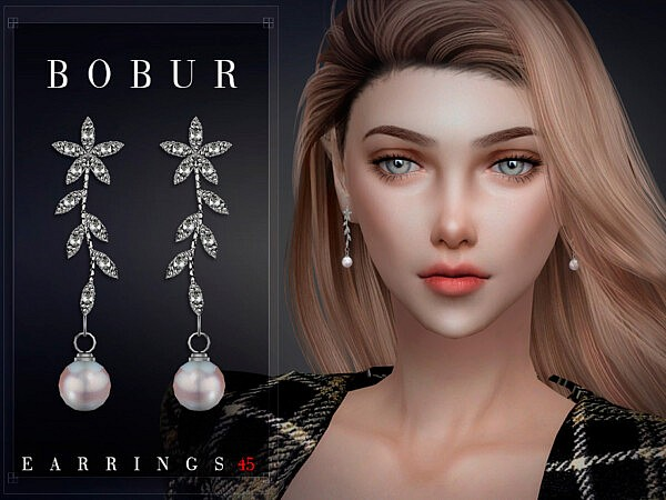 Bobur Earrings 45 sims 4 cc