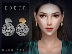 Bobur Earrings 48 sims 4 cc