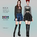 Boca Mini Skirt sims 4 cc