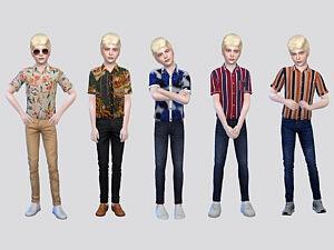 Boys Casual Shirt I sims 4 cc
