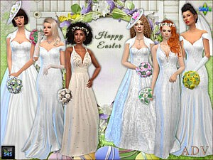 Bride dresses and accessories sims 4 cc