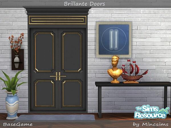 Brillante Panel Doors sims 4 cc