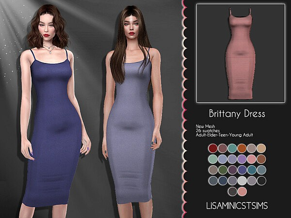 Brittany Dress sims 4 cc