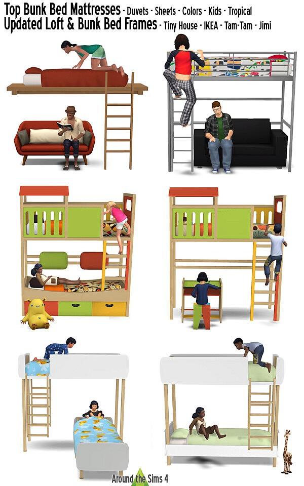 Bunk and loft beds sims 4 cc