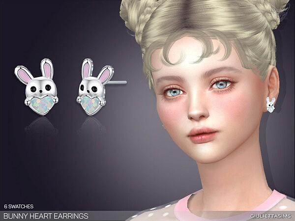 Bunny Heart Earrings sims 4 cc