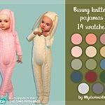 Bunny knitted pajamas sims 4 cc