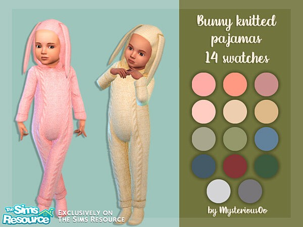 Bunny knitted pajamas by MysteriousOo from TSR