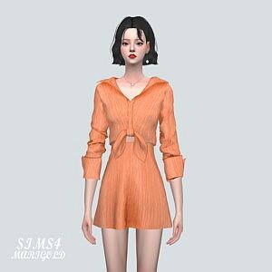 C 51 Ribbon Mini Dress V2 sims 4 cc