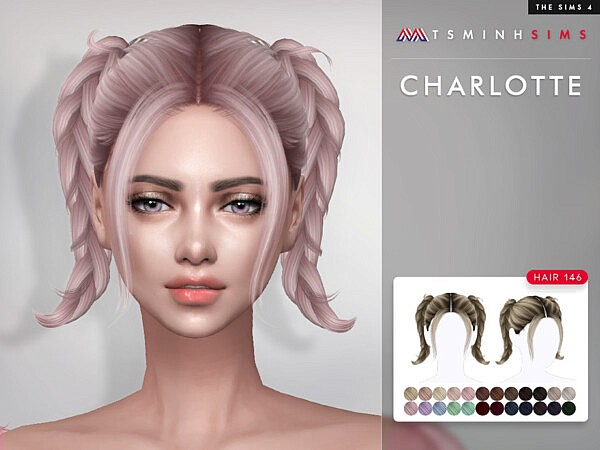Charlotte Hair 146  by TsminhSims from TSR