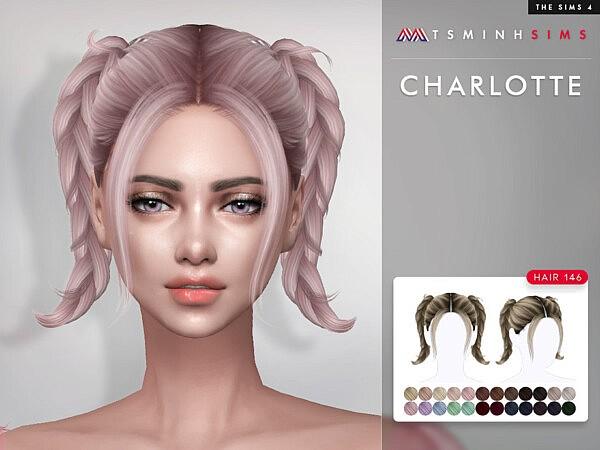 Charlotte Hair 146 sims 4 cc