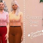 Checked Shirt sims 4 cc