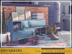 Chic Gym Console set sims 4 cc