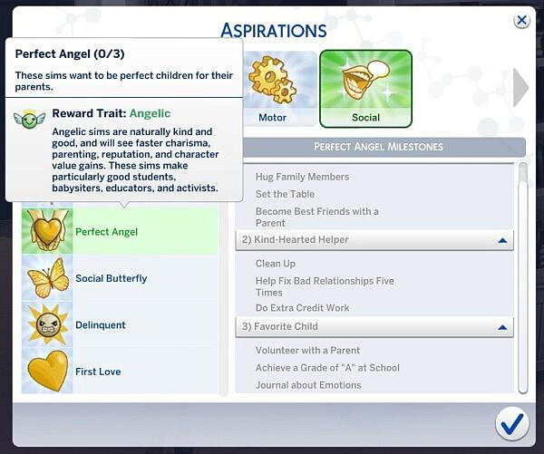 Child Aspirations Set sims 4 cc